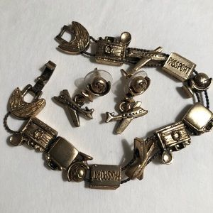 Accessories - ♥️MAKE OFFER♥️Airplane Bracelet With Earrings🛩